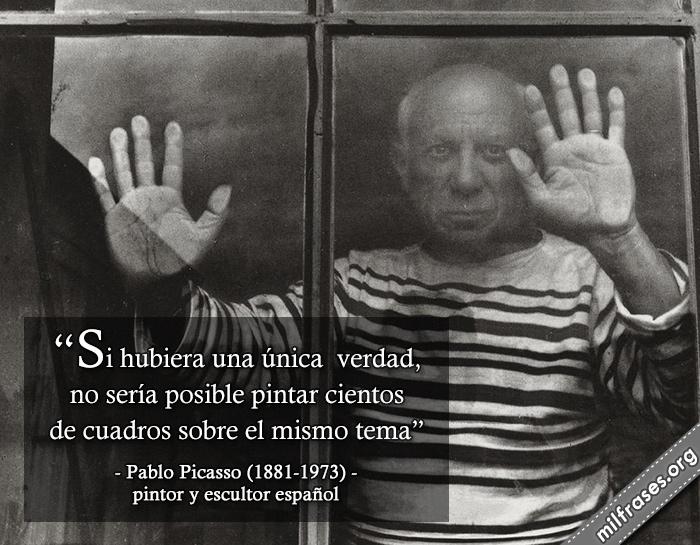 frases de Pablo Picasso, fue un pintor y escultor español