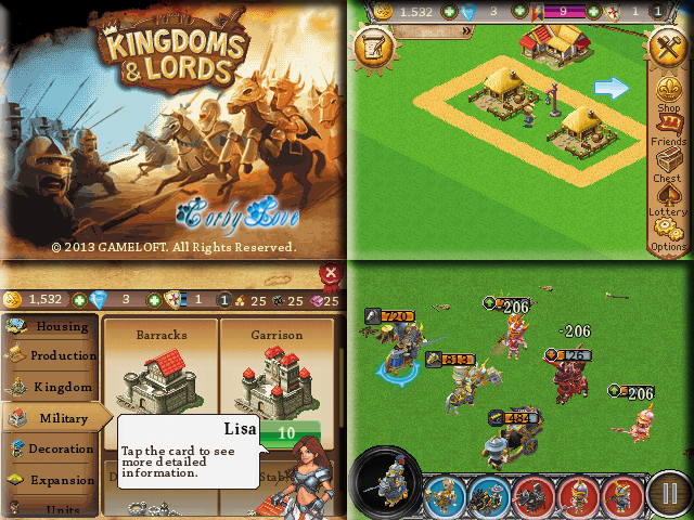 Kingdoms &amp; Lords 240 x 320 Touchscreen Mobile Java Game