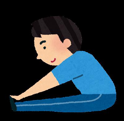 柔軟体操をする男性のイラスト
