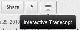 Interactive transcript