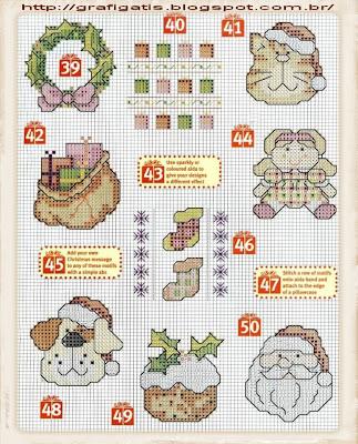 Gráficos de Ponto Cruz de Natal
