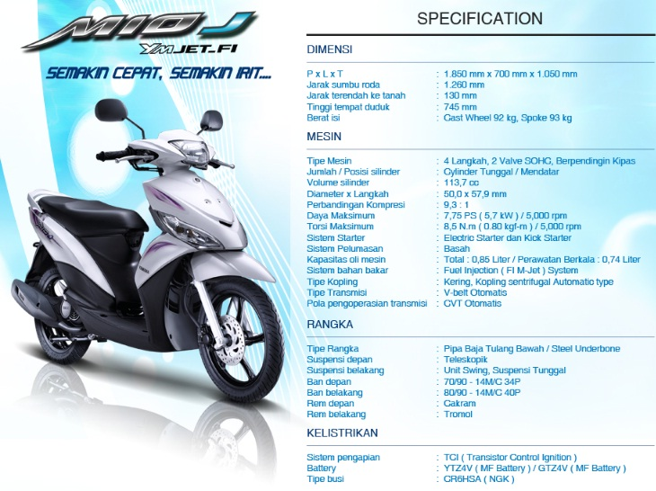 Motor matic injeksi irit harga murah     Yamaha Mio J   My Inspirasi