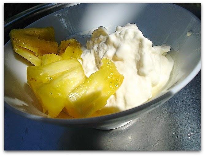 Un dimanche a la campagne cr me glac e la noix de coco et ananas victoria - Conservation ananas coupe ...