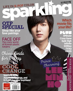 Lee Min Ho Covers Sparkling magazine Winter 2013 issue