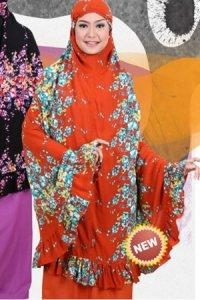 Mukena Dewasa Tatuis Tiara 068 - Orange (Toko Jilbab dan Busana Muslimah Terbaru)