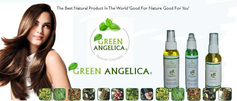 Penyubur rambut green angelica , menumbuhkan secara alami
