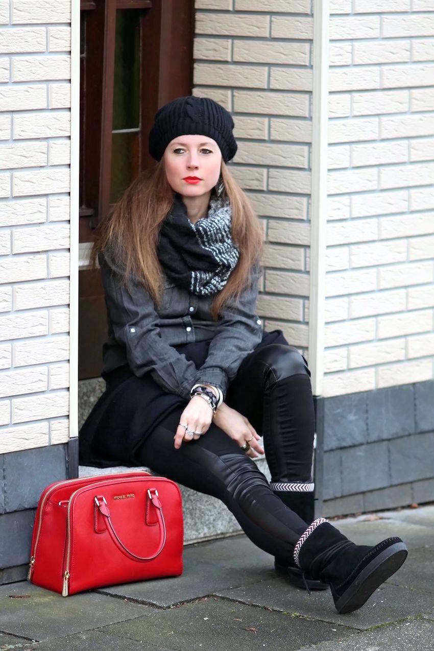 mister lady jeanshemd in grau wildleder boots von toms. Black Bedroom Furniture Sets. Home Design Ideas