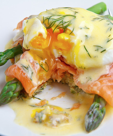 Scrumpdillyicious: Eggs Jubilee with Smoked Salmon & Asparagus