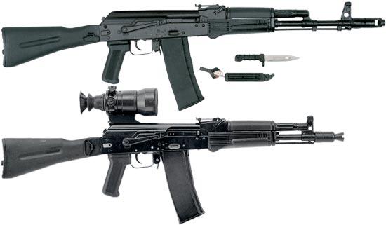 АК-101 (сверху) АК-102 (снизу)