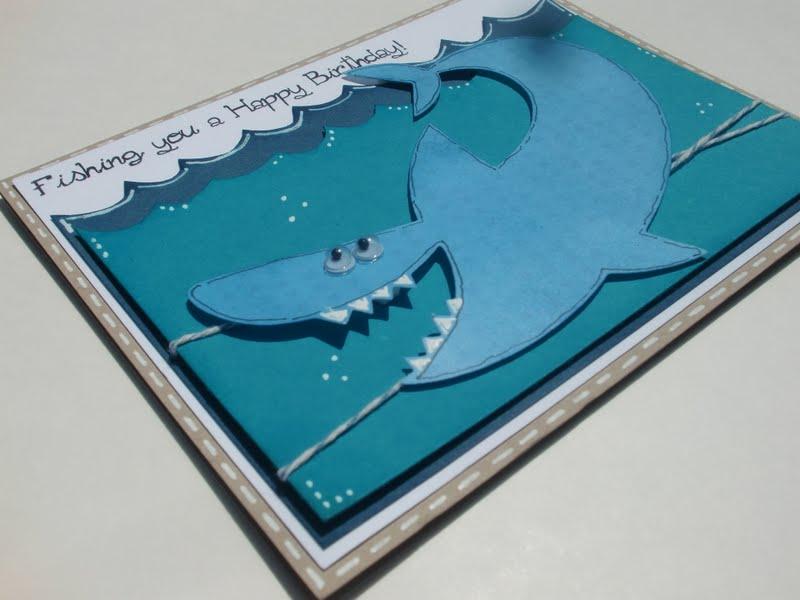 shark birthday card  my  e scrapbooking, Birthday card