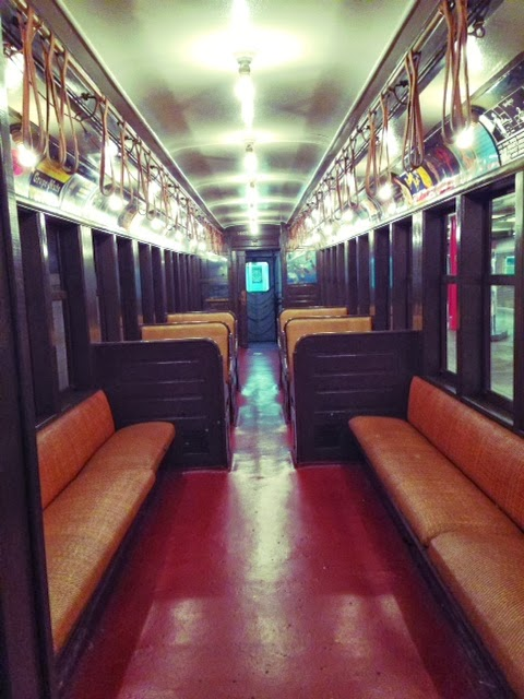 brooklyn transit museum, Brooklyn subway, subway system in New York City, old vintage subway train cars