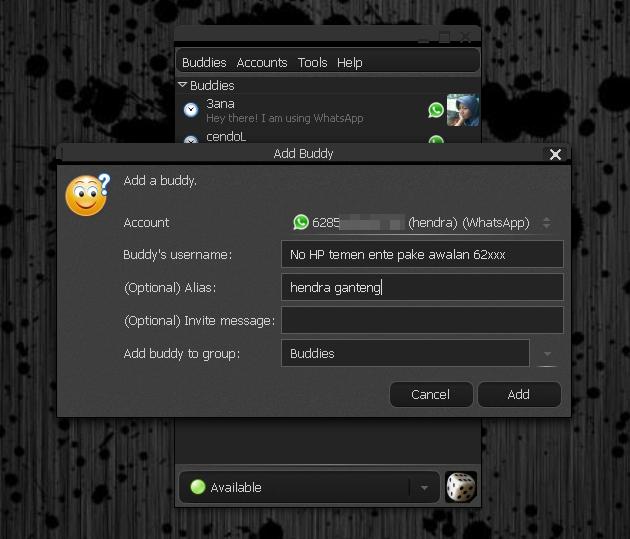 Menjalankan Whatsapp di Pidgin Linux Mint