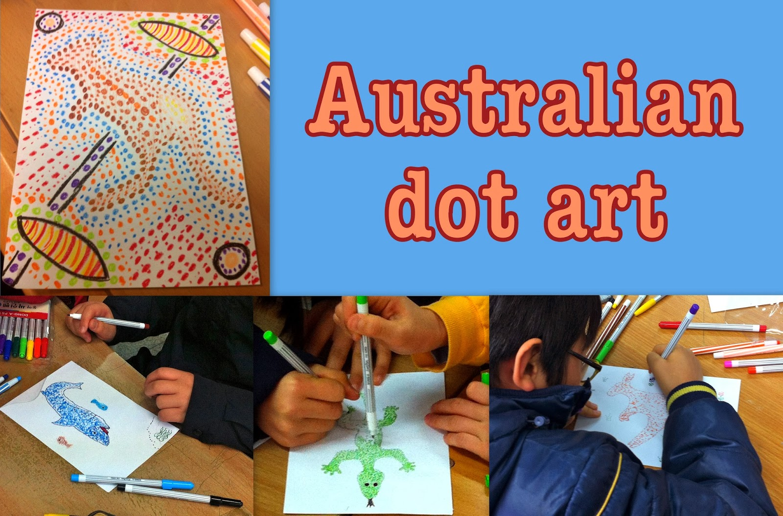 Australian dot art elementary art project