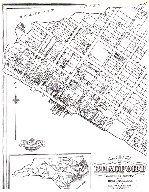 1880 Gray's Map of Beaufort