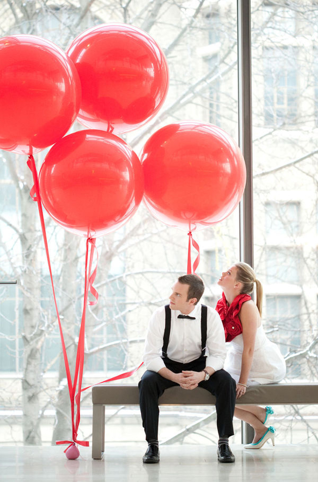 Style Inspiration: Balloons - Belle the Magazine . The Wedding