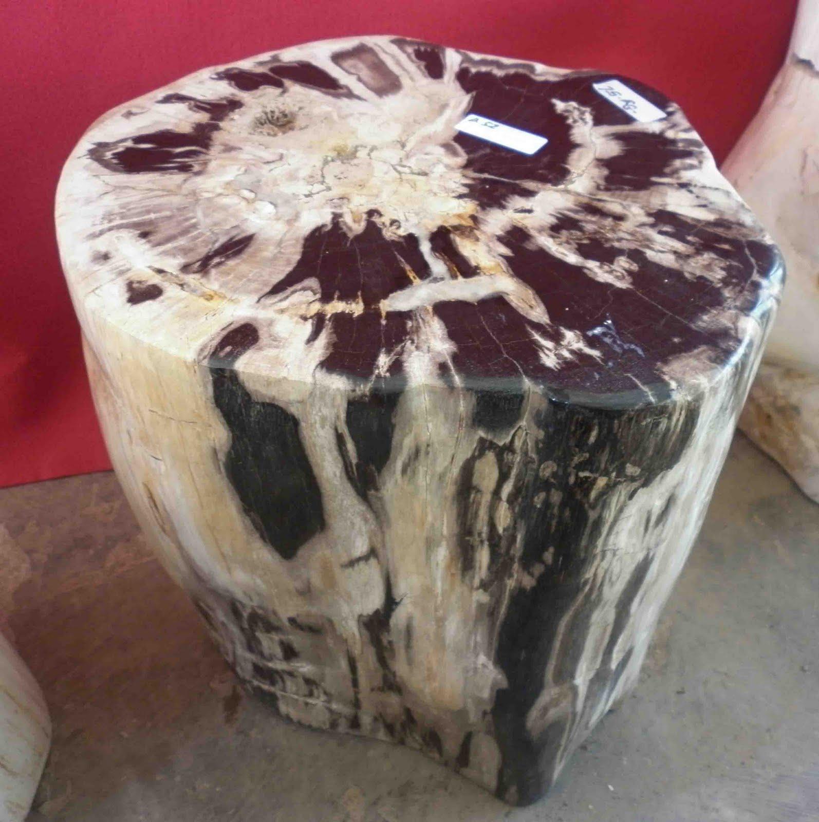 Petrified wood stools indogemstone for Petrified wood furniture for sale