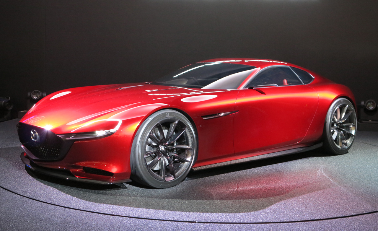 the real figure of mazda rx vision revealed in tokyo. Black Bedroom Furniture Sets. Home Design Ideas
