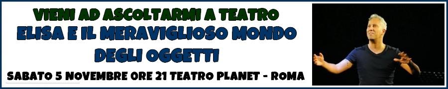 Il 5 Novembre al Teatro Planet, Roma