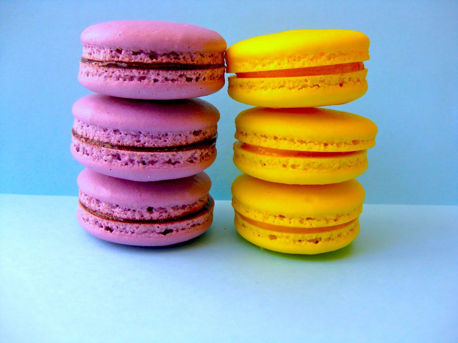 Pixie Crust: Passion Fruit Macarons & Blackberry Macarons