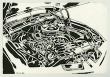 The Car Engine Invitational Drawing Show (and a flood)