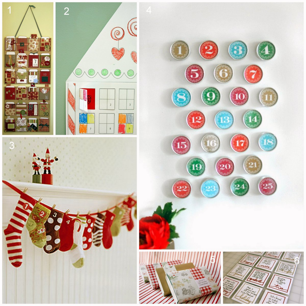 Creativity unmasked six for saturday or sunday for Diy christmas advent calendar ideas