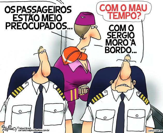 Passageiros preocupados