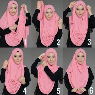 Cara Memakai Jilbab Pashmina Tetap Bersyariat