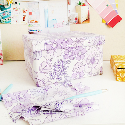 Purple+Fabric+Lined+Ikea+Kassett+Box My Crafting Updates Decoupage Craft Room Moodboard
