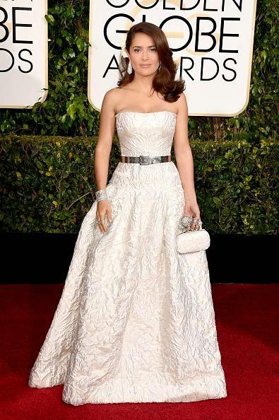 WHO WORE WHAT?.....Golden Globes 2015: Salma Hayek in Alexander ...