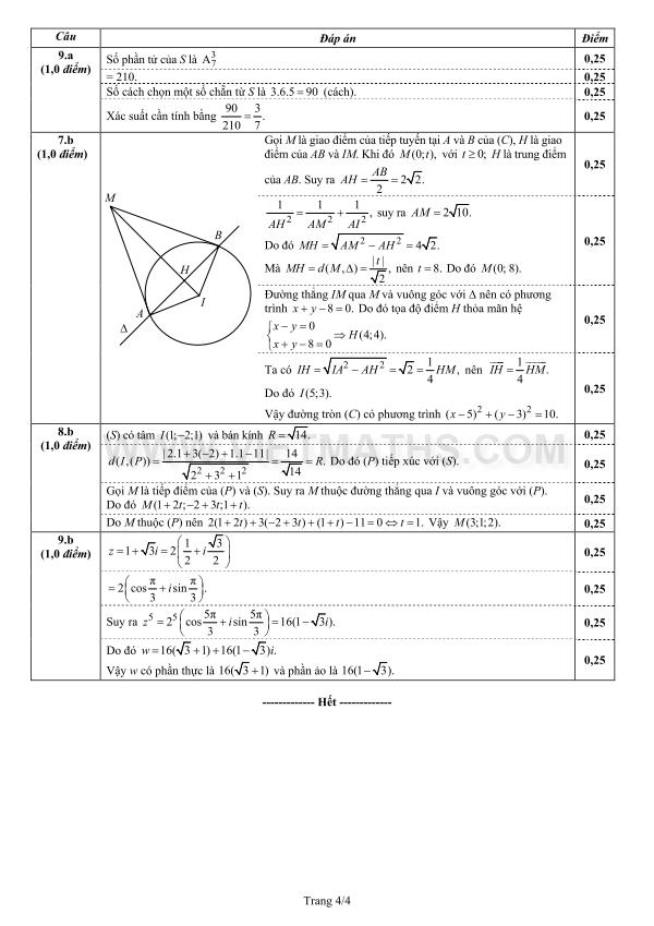 đề thi đh môn Toán năm 2013 khối A A1