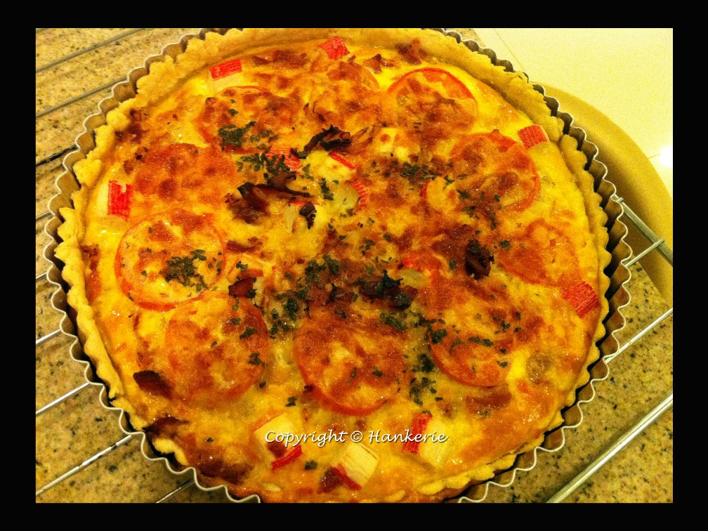 french quiche lorraine comes from nz hankerie. Black Bedroom Furniture Sets. Home Design Ideas