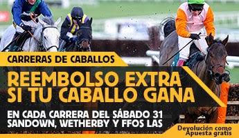 betfair gana 25 euros extras si tu caballo gana Sandown, Wetherby y Ffos Las 31 enero
