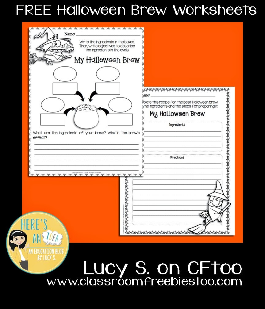 FREE Halloween Brew Worksheets by Lucy S.