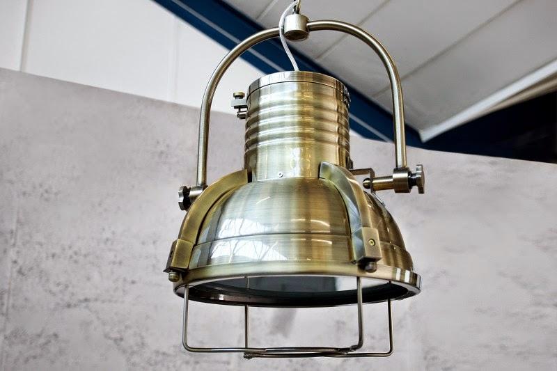 retro svietidla reaction, zavesna lampa z kovu Industrial