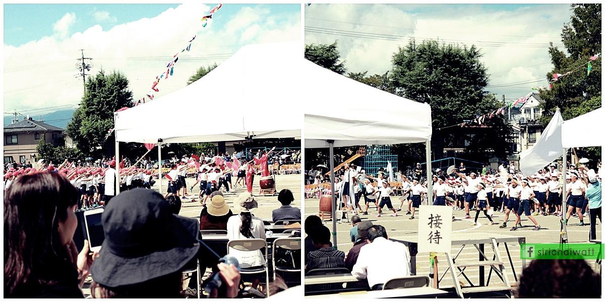 การแสดงการเชียร์ ในกีฬาสี โรงเรียนประถม ประเทศญี่ปุ่น