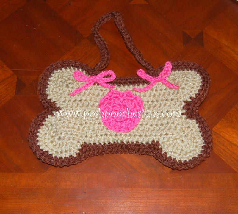 Free Crochet Pattern For Dog Bone Mat : Posh Pooch Designs Dog Clothes: Dog Bone Mat and Poo Bag ...