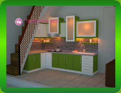 Kitchen design under the stairs with limited room ~ Home Interior