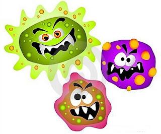 Elementos habituales llenos de bacterias