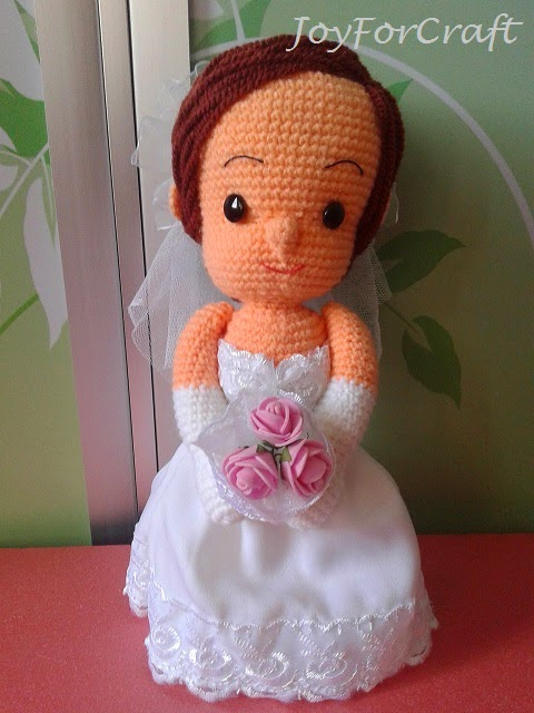 amigurumi bride wedding doll couple cute gift deco