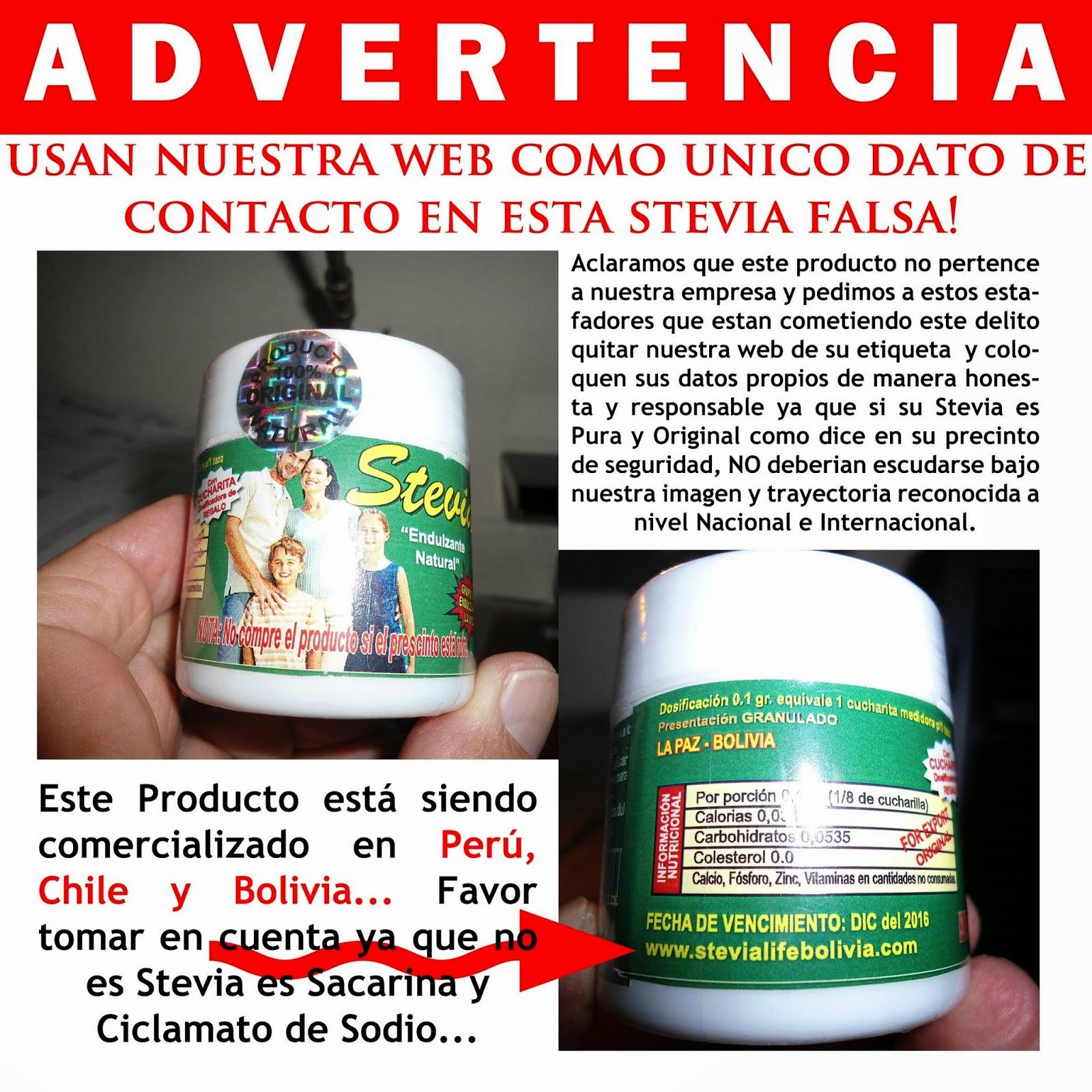 El Rincón de la Katarsis: Que no te estafen con falsa stevia