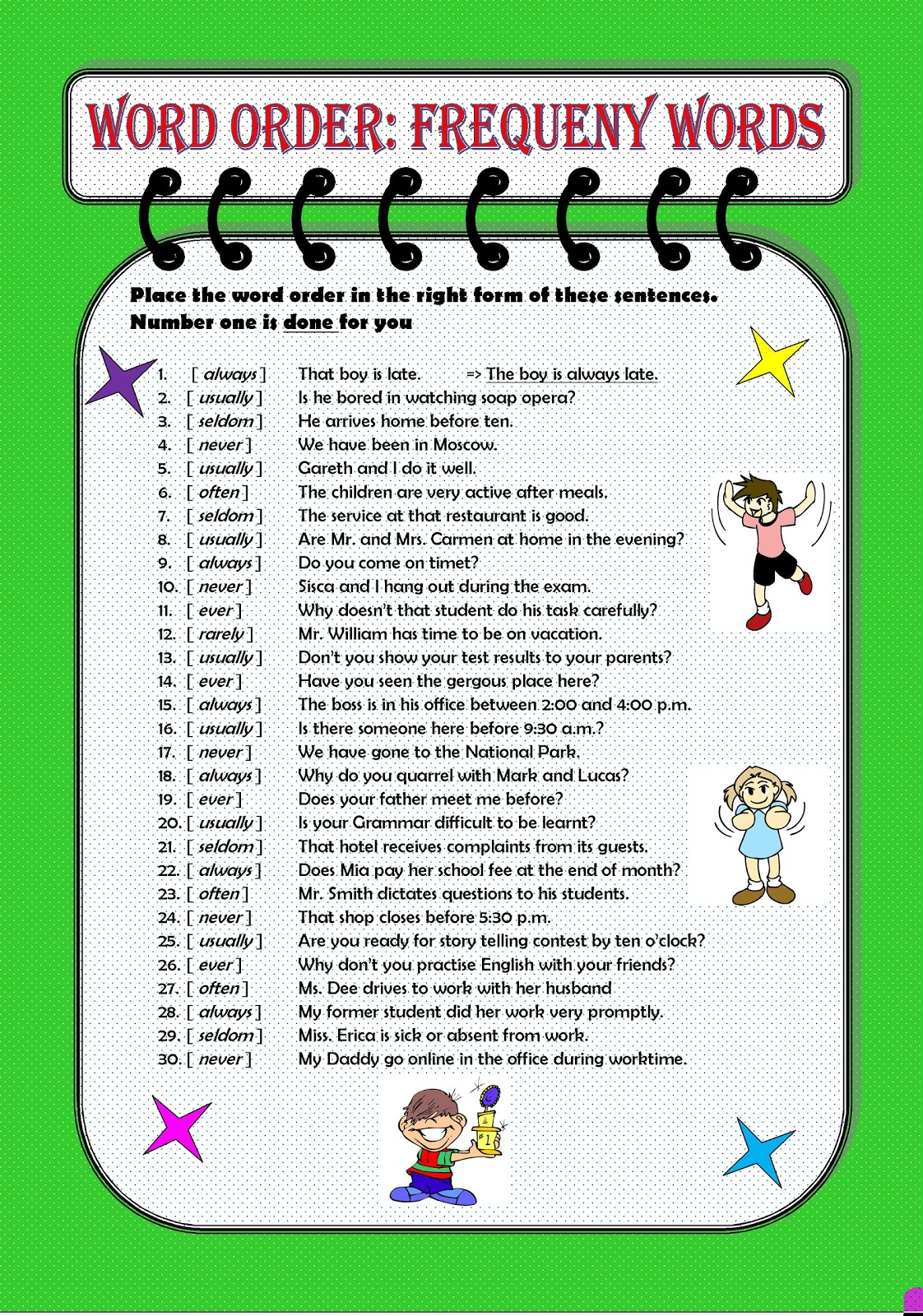 And Est Worksheets in addition Adverb And Adjective Phrases Worksheets ...