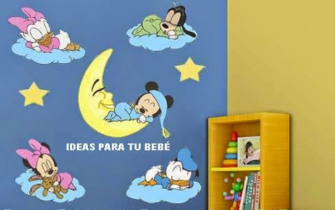 Ideas para tu bebe vinilos infantiles baby disney for Pegatinas pared bebe