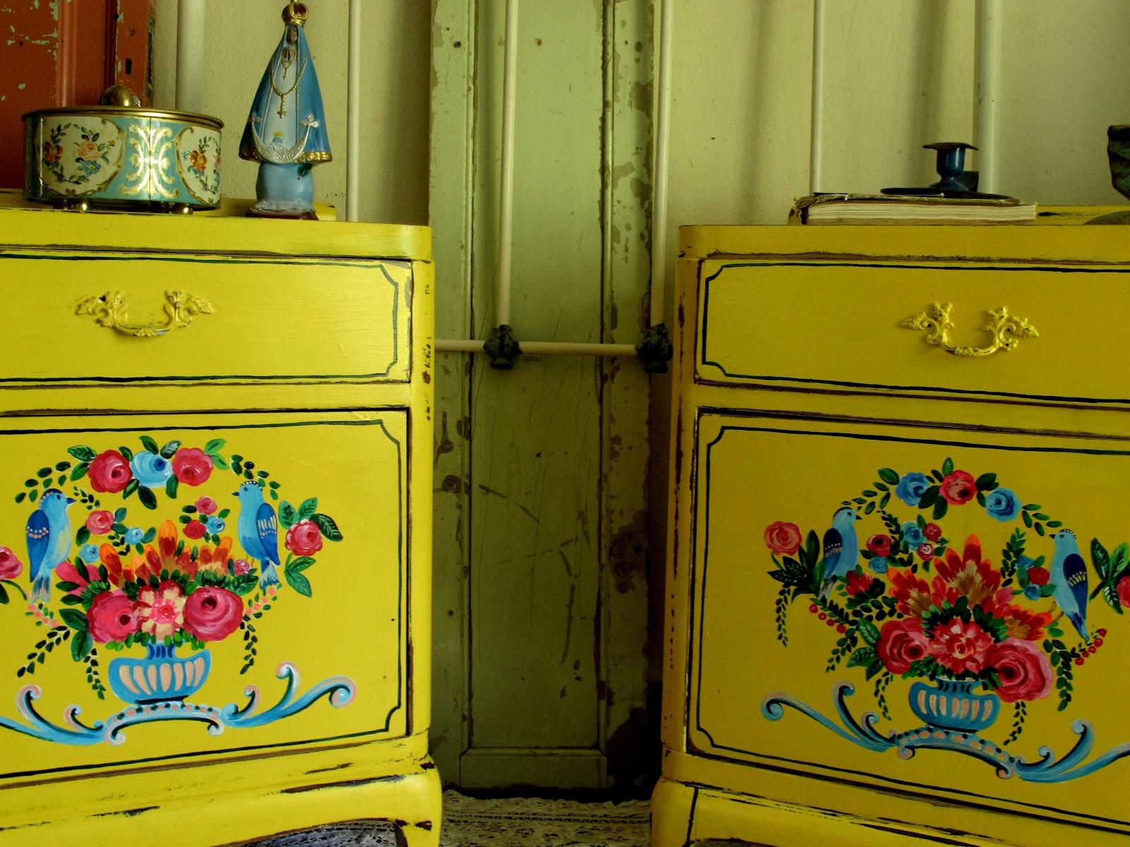 Muebles pintados las vidalas - Muebles pintados de colores ...
