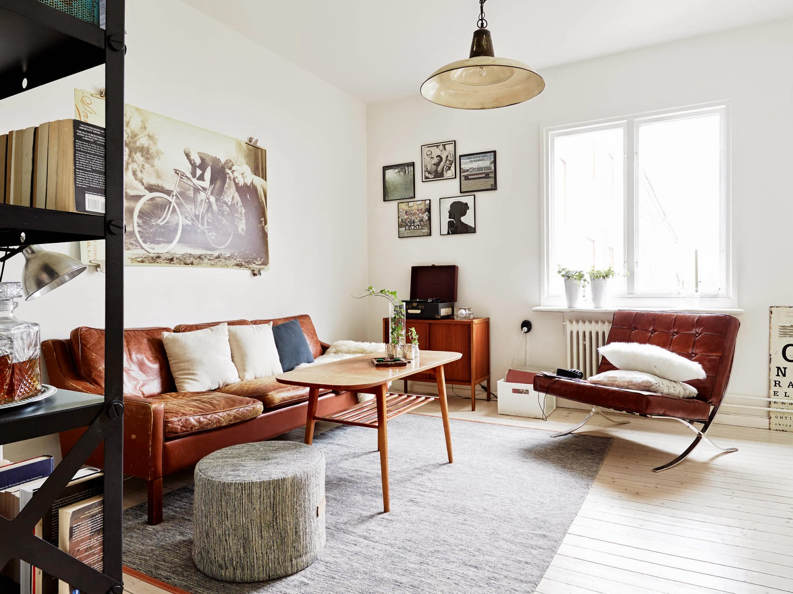 My Scandinavian Home Monochrome And Cognac In A Vintage