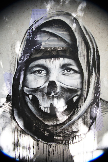 Street Art Portrait By Borondo With Local Greek Artists In Athens, Greece. 3