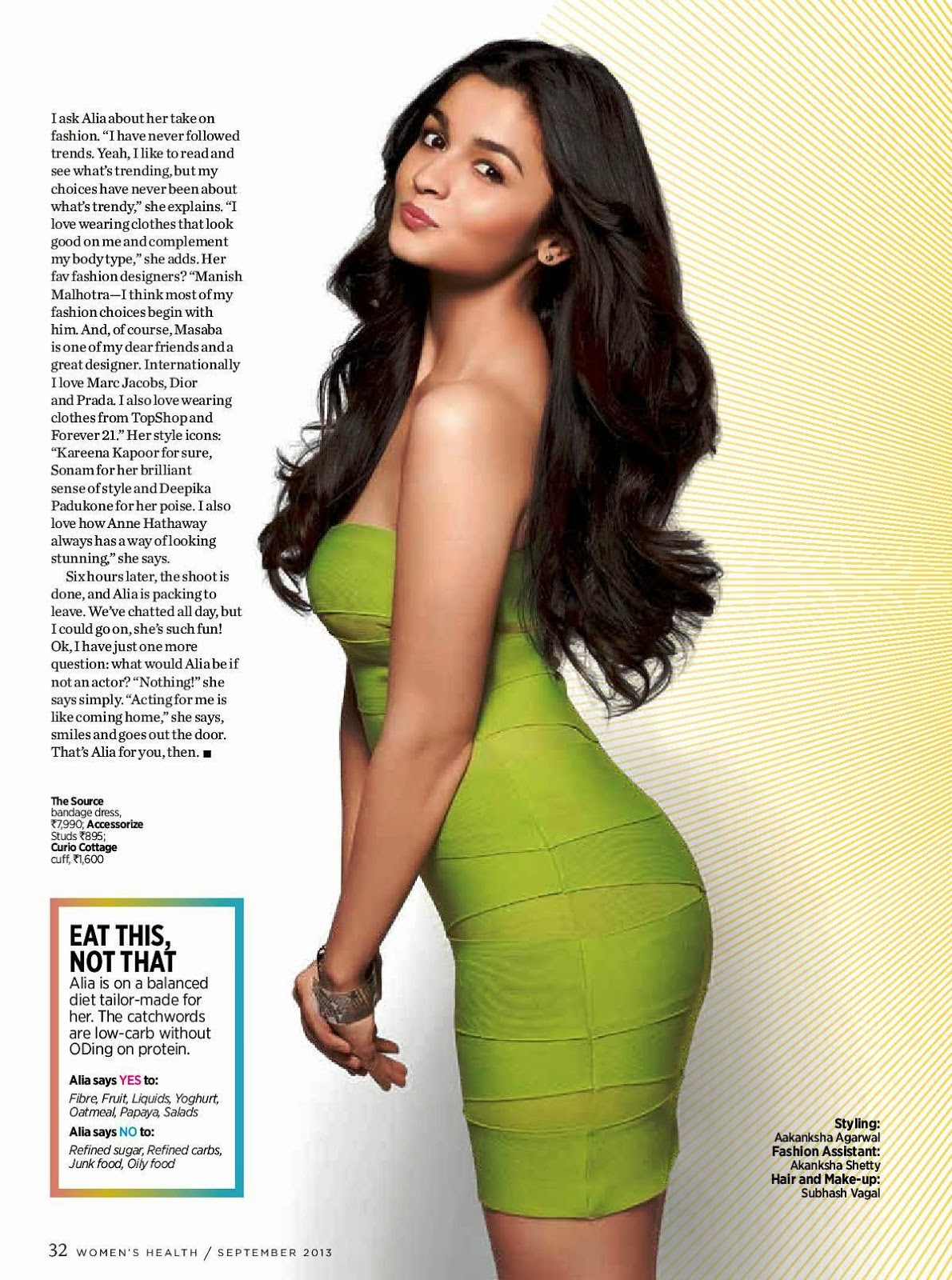 Alia Bhatt Women's Health  Magazine 2013 hq