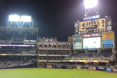 Petco Park where the San Diego Padres play baseball