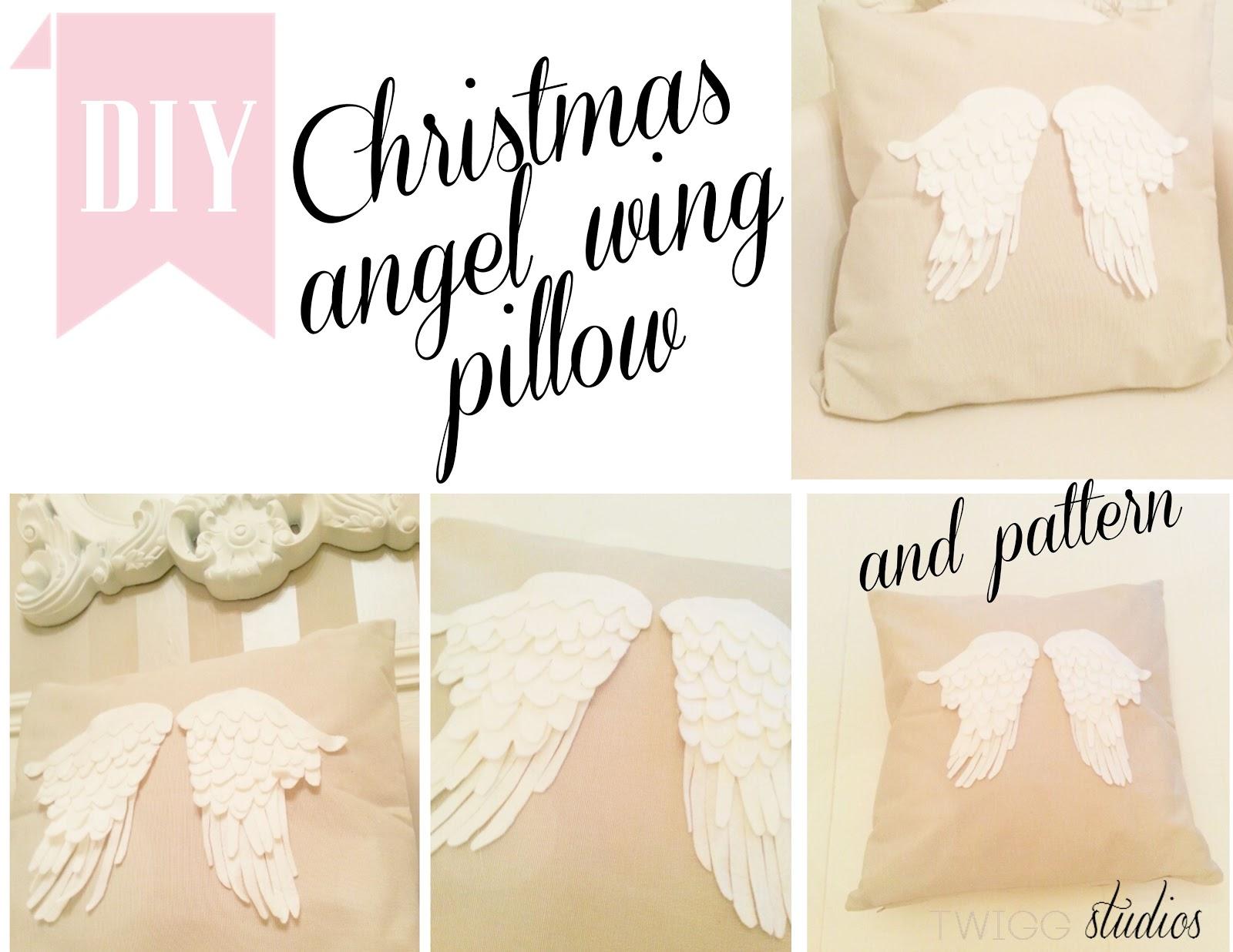 angel wing pillow - twigg studios