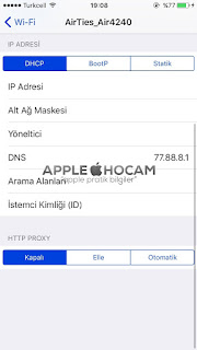 iPhone DNS Degistirme Pratik Yol