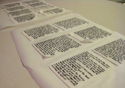 Classic Book Pages Cake - View of Pages Before on Cake 1